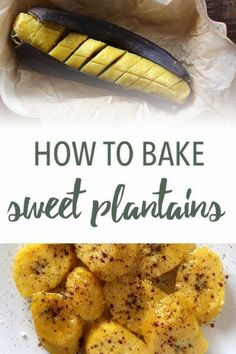 Sweet baked plantains are the new baked sweet potatoes. Ripe plantains, baked in their skin, become tender and sweet. Paleo Vegetables, Healthy Vegetable Recipes, Healthy Cooking, Paleo Recipes, Cooking Recipes, Veggies, Paleo Side Dishes, Side Dish Recipes, Grain Free