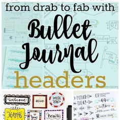Would you like to breathe a little life into your bullet journal headers? You know, those page titles or dates or collection headings? In the blog post this week (link in bio) I've compiled hundreds of ideas to help you slice up your bullet journal header