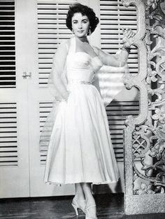 """Elizabeth Taylor in """"Elephant Walk"""", 1954"""