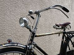Beautiful details of a classic Japanese Midori bicycle