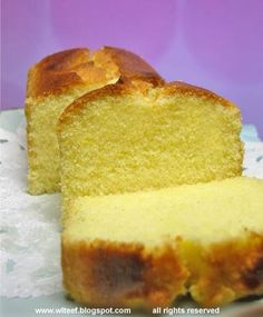 An unbeatable fine butter cake. Very very fattening but very tasty. The crumbs are fine with nice buttery taste. You gotta try it! Cake Cookies, Cupcake Cakes, Cupcakes, Sugee Cake, Rum Cake, Baking Recipes, Dessert Recipes, Desserts, Mango Mousse Cake