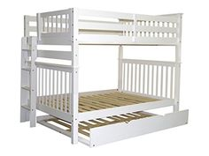 Bedz King Mission Style Bunk Bed with End Ladder and Full…