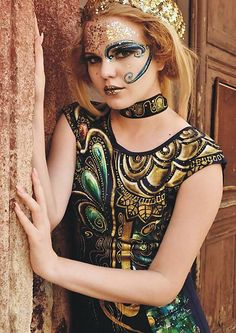 zeiko / femme fatale Hand Painted Dress, Halloween Face Makeup, Clothes, Dresses, Woman, Outfits, Vestidos, Clothing, Kleding