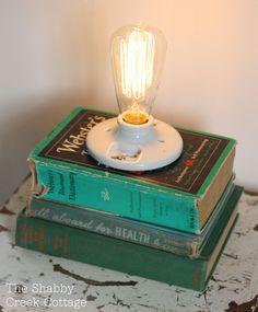 DIY book light.