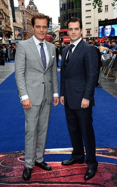 Michael Shannon and Henry Cavill - aka General Zod and Clark Kent!
