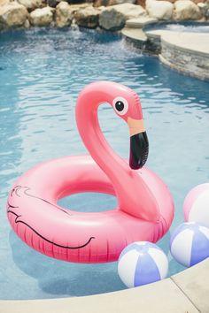 Flamingo Float from a Flamingo Pool Party via Kara's Party Ideas KarasPartyIdeas.com (13)