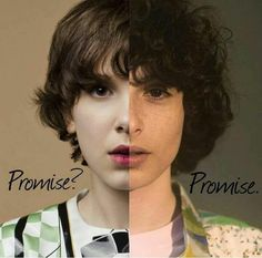 Like, you can be two people at once, but ONLY Finn and Millie can pull it off. I promise Stranger Things Actors, Stranger Things Quote, Stranger Things Aesthetic, Eleven Stranger Things, Stranger Things Netflix, Stranger Things Season, Millie Bobby Brown, Charlie Heaton, Diana