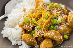 Asiatisches Orangen-Hähnchen mit Basmatireis