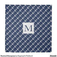 Nautical Monogram Duvet Cover