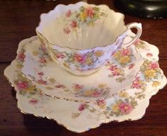 Paragon Bone China Tea Trio Cup Saucer with Side Plate | eBay