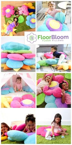 The perfect pillows to cuddle, play, learn, and explore with. Add some whimsy to your girls bedroom with Floor Bloom pillows!