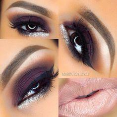 Valentine's Day Makeup Ideas: Deep Plum Smokey Eyes with Pale Pink Lips | MakeupBy_Ev21