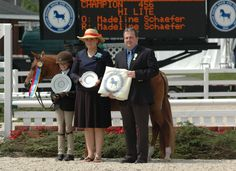 Madeline Schaefer and Hi Lite, Champion Small Pony Hunter, Devon 2012