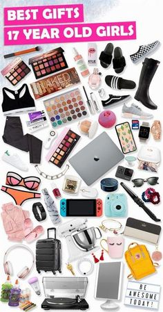 Wondering what are the best for 17 year old girls? We have over 300 awesome gift ideas for 17 year old girls that are teen approved! Wondering what are the best for 17 year old girls? We have over 300 awesome gift ideas for 17 year old girls that. Christmas Gifts For Teen Girls, Cool Gifts For Teens, Tween Girl Gifts, Diy Christmas Gifts, Christmas Ideas For Teens, Gifts For Teenage Girls, Christmas Gifts For 17 Year Olds, Present For Teens, Teenager Christmas Presents