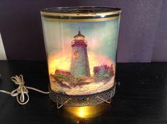 Motion Lamp Oval Lighthouse Spinning Sign 1959 Goodman Mfg Light Vintage Lamp