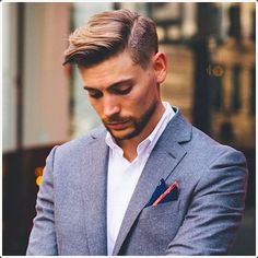 The side parted tapered hairstyle is one of the best.