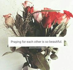 Loving each other for the sake of Allah. That's beautiful.