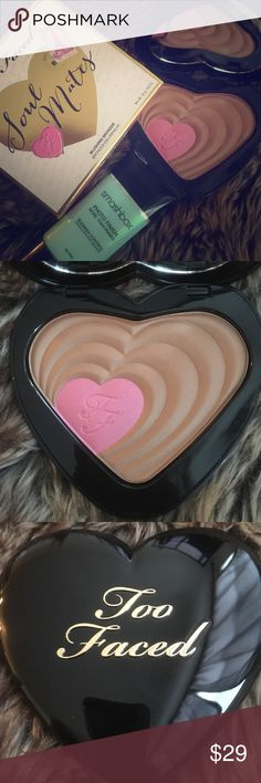 Too Faced Soul Mates Ross and Rachael Bronzer 100% NEW, UNUSED AND AUTHENTIC!!!! Comes with box! Serial number is listed on box to ensure authenticity. NO LOWBALLING!!! Too Faced Makeup Bronzer
