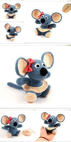 Amigurumi Animal Crochet Pdf Free and Premium Patterns - Amigurumi Crochet Patterns Crochet Panda, Crochet Monkey Pattern, Crochet Mouse, Crochet Amigurumi, Amigurumi Patterns, Crochet Animals, Crochet Dolls, Doll Patterns, Crochet Patterns