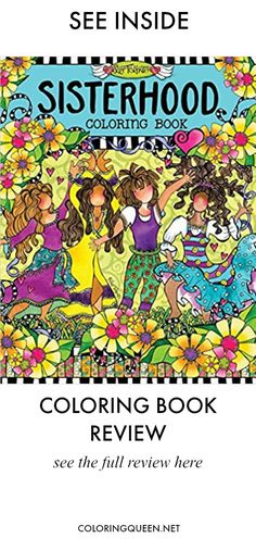 See Inside Sisterhood Coloring Book Review Illustrated By Suzy Toronto Part Of A Series