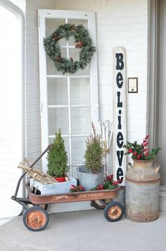 christmas on the front porch christmas porchfarmhouse christmas decorvintage