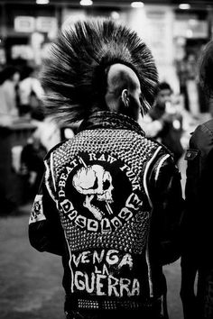 Studded Punk Rock MC Motorcycle Jacket chaos to Couture