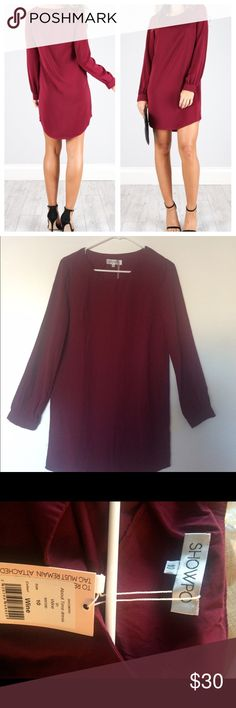 Showpo About time dress in wine. Showpo is an Australian online store. Brand new! Color is wine. The size is 10 AU but 6 in US (medium). 100% polyester, no stretch. Dresses