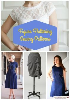 Figure Flattering Sewing Patterns | Find fun fabrics for your next project www.myfabricdesigns.com