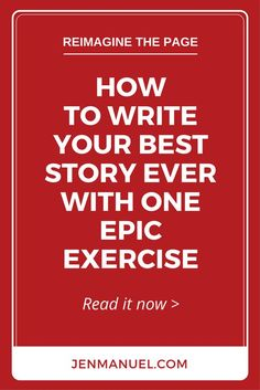 Write your best story ever with this one epic exercise. It's simple, powerful, and long forgotten. And, it's easy to add to your daily writing routine! This is quite an interesting idea, I don't know that I'd do it but it's something to think about. Creative Writing Tips, Book Writing Tips, Writing Process, Writing Resources, Writing Help, Writing Skills, Creative Writing Exercises, Writers Notebook, Writers Write