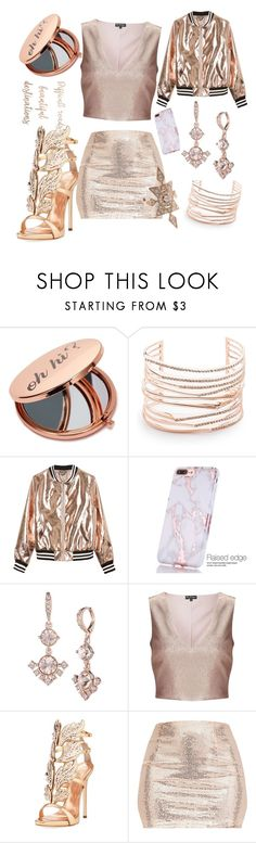"""Rose Gold Girl"" by zeldurrrx3 on Polyvore featuring Miss Selfridge, Alexis Bittar, Sans Souci, Givenchy, Giuseppe Zanotti, Luv Aj, cute, gold, fancy and rosegold"
