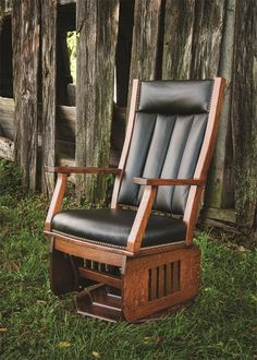 Amish Four Post Gliding Rocker With Ottoman In 2019