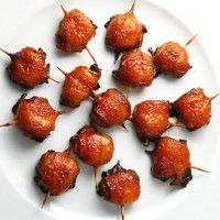 Bacon Wrapped Water Chestnuts.  I've been making these for years...thanks Ruthie for the recipe.