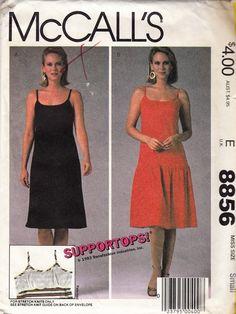 "Flirty Top Gun Summer Halter Dress  -  1980's Vintage Women's Pattern  - Size 10-12 Bust 32.5-34"" - UNCUT - Sewing Pattern McCall's 8856 by Sutlerssundries on Etsy"