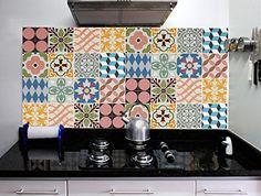 Stickers carrelage autocollants tuile stickers - Carrelage autocollant cuisine ...