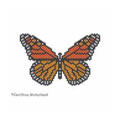 Monarch Butterfly Pendant peyote stitch pattern Large 5