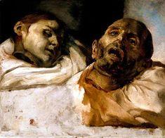 Heads of Torture Victims (study for The Raft of the Medusa) - Theodore Gericault. Realismo