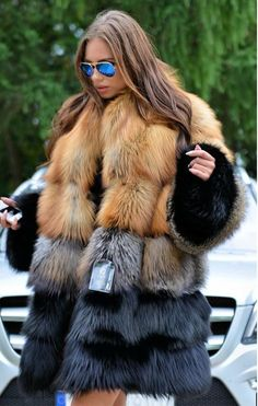 - Gender: Women - Type: Wide-waisted - Pattern Type: Patchwork - Sleeve Length(cm): Full - Closure Type: Covered Button - Style: High Street - Sleeve Style: Regular - Style: Thick Warm Fur - Clothing Length: Long - Craft\Technics: Full Pelt - Material: Fur,Fox Fur - Decoration: Fur - Collar: With Fox Fur Collar - Thickness: Thick - Hooded: No - Size: S M L XL XXL 3XL 4XL - Washing Type: Dry Clean Only - Style: Warm,Fashion,Luxury - Color Style: Natural Color
