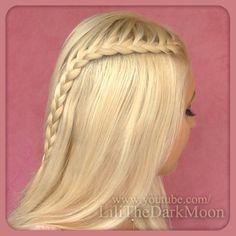Franch lace braid from hair tutorial http://www.youtube.com/watch?v=3qtxRKLg5fk