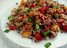 Sałatka z ryżem,tuńczykiem i papryką Fried Rice, Fries, Chinese, Cooking, Ethnic Recipes, Food, Kitchen, Essen, Meals