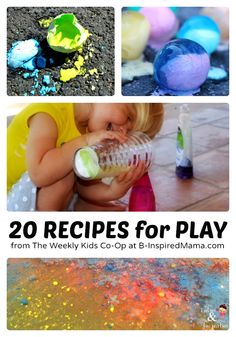 20 Fun Play Recipes from The Weekly Kids Co-Op - #kids #play #parenting