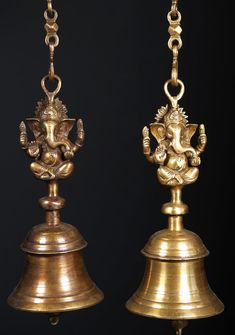 View the Large Ganesh Hindu Bells 15""