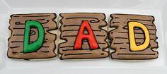 Woodgrain in royal icing #cookies