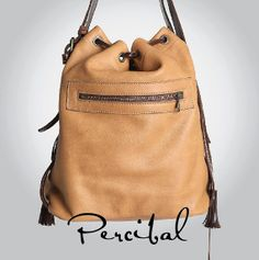 Camel bucket bag Leather purse Leather bucket purse by Percibal, $220.00