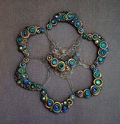 Peacock Bubble Necklaces by MandarinMoon, via Flickr