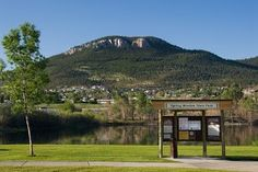 Spring Meadow Lake, a popular place for swimming and fishing in Helena, Montana.