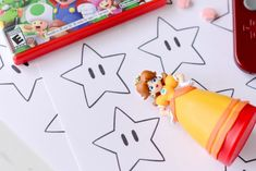 super mario bros printable star confetti from Hello Splendid www.hellosplendid.com