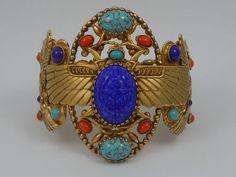 Askew London 'Egyptian Revival' Winged Scarab Hinged Bracelet