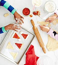 Giving kids a bowl of flour and sugar = big mess. Letting them make festive snacks using a package of store-bought dough = brilliant.