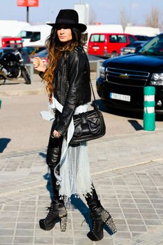 Black And White - Edgy Leather - Lita Spikes <3