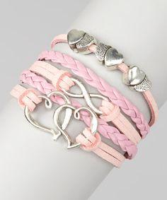Light Pink Hearts Bracelet